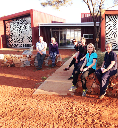 A team of visiting health professionals in outback WA