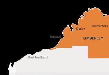 Map of Kimberley