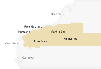 Map of Pilbara