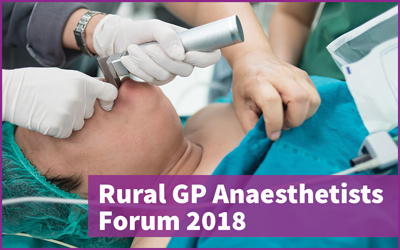 2018-LPFL-Rural-GP-Anaesthetists-Forum
