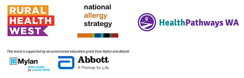 Allergy Update - National Allergy Strategy workshop supporting logos