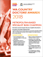 NominationForm-MetroSpecialistBustChampion-WA Country Doctors Award-2018-thumb-180px