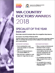 NominationForm-SpecialistofTheYear-WA Country Doctors Award-2018-thumb-180px