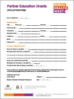 Partner Education Grant-Application Form-Rural Health West-0717