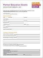 Partner Education Grant-Guidelines-Rural Health West-0718