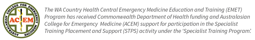Australasian College for Emergency Medicine  funding logo
