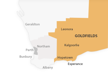 Map of Goldfields