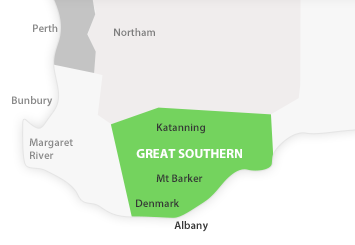 Map of Great Southern