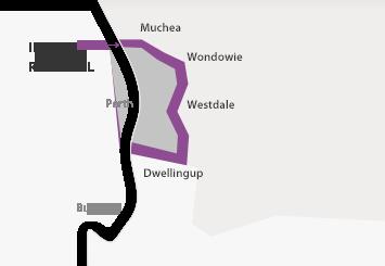 Map of Inner Regional