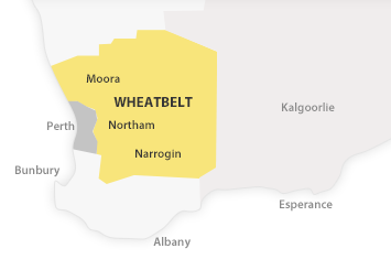Map of Wheatbelt