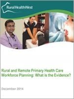 Rural primary health care workforce