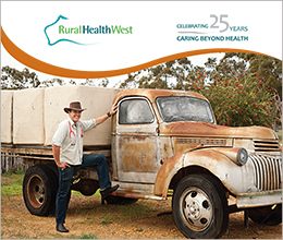 Rural health West-25 year commemorative book-cover