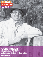 Rural health West - membership constitution - October 2016